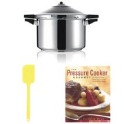 Kuhn Rikon Duromatic Top Model 8.75? 5-qt Pressure Cooker w/ Silicone Spatula & Gourmet Cookbook