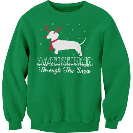 Dachshund through the snow rudolph christmas weenie for How to not sweat through a shirt