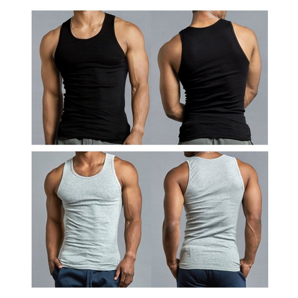 Mens 3 Pack Vest,1 Black 1Grey and1 White