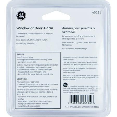 GE Personal Security Window/Door Alarm, 4-Pack, Battery Operated, 45174