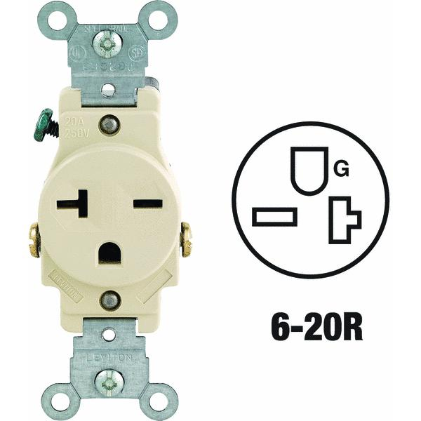 Leviton Heavy-Duty Grounding Single Outlet