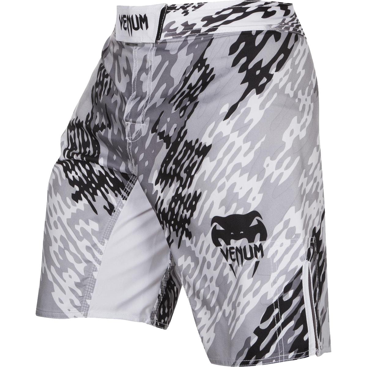 Venum Neo Camo MMA Fight Shorts - White/Black