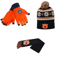 best cheap 5fdff 815bd Product Image NCAA Auburn Tigers Glove Solid Knit Fogbow Beanie Hat And Team  Logo Scarf 3 Pack Bundle
