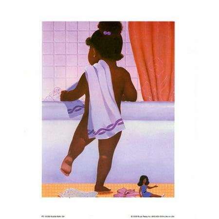 Bubble Bath Girl Poster Print By Stanley Morgan  8 X 10