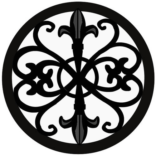 Home Basics Cast Iron Fleur De Lis Trivet, Black