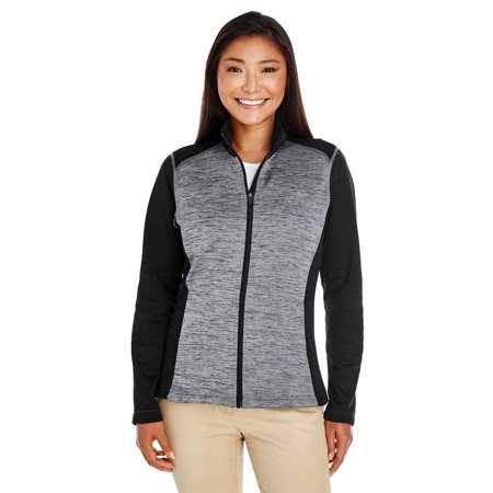 Devon & Jones Ladies' Newbury Colorblock Mélange Fleece Full-Zip - image 1 de 1