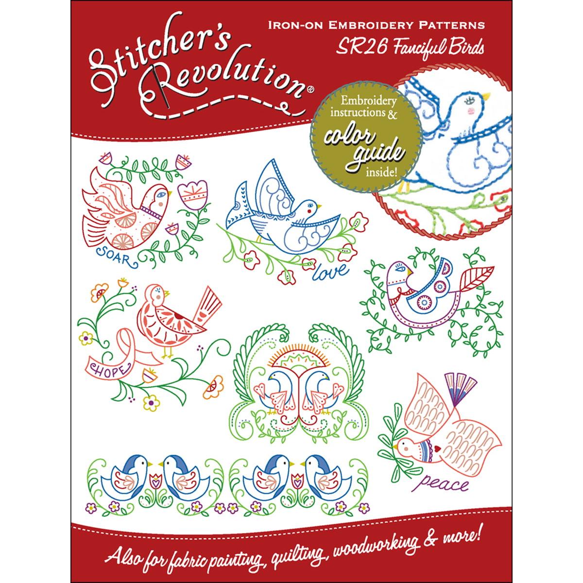 Stitcher/'s Revolution Iron-On Embroidery Patterns Sew Crafty SR12 *New