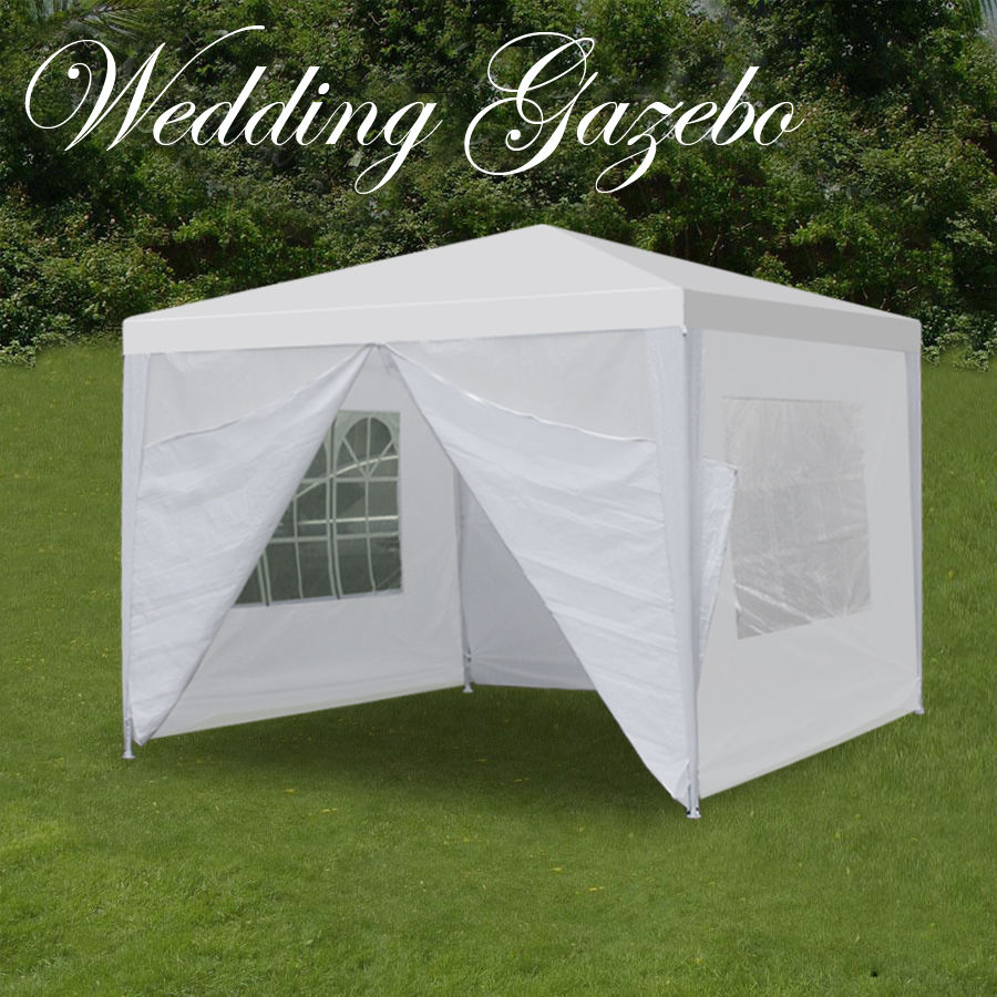Zeny White outdoor Wedding Party Tent 10' 20' 30' patio Gazebo Canopy Removable Walls by