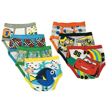 Disney Toddler Boy Pixar Favorite Characters Underwear, 7-Pack