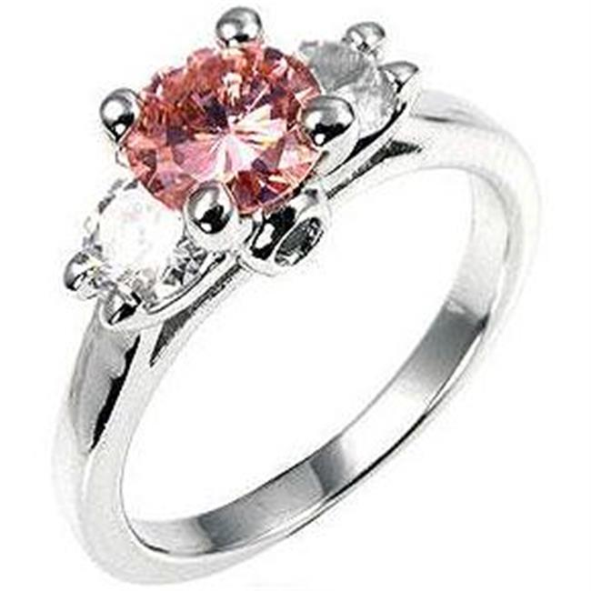 Mini Pink Ice Triplet Ring, <b>Size :</b> 06
