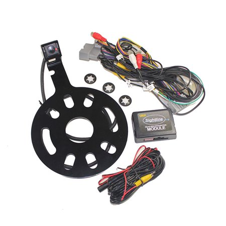 Crux Interfacing Solutions RVCCH75WT Crux Rear-view & Vim Integration With Spare Tire Mount Camera For Jeep Wrangler 2007- 2014