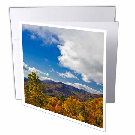 3Drose Blue Ridge Parkway  Autumn  Appalachian Mountains  Nc   Us34 Aje0107   Adam Jones  Greeting Cards  6 X 6 Inches  Set Of 12