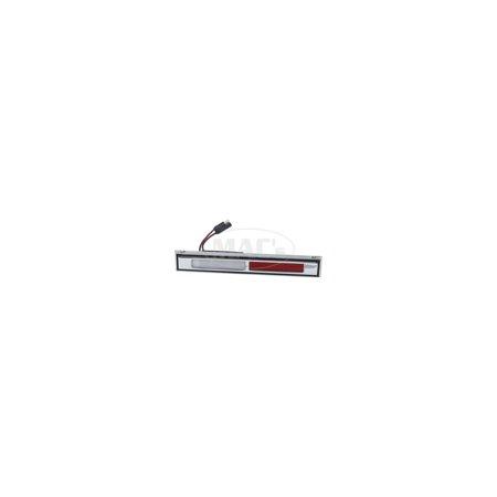 MACs Auto Parts  60-43068 Door Courtesy Light Assembly - Chrome With White & Red Reflectors - Ford 2 & 4 Door Hardtops Body Styles 53, 57 & 65 Cadillac 2 Door Hardtop