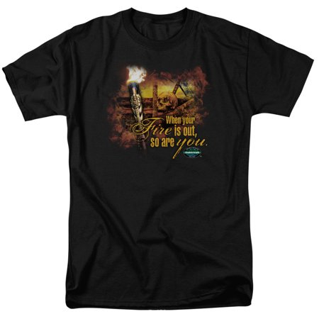 Survivor Cbs Tv Series Fires Out Adult T Shirt Tee