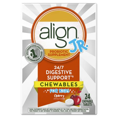 Align Jr Chewable Probiotic Supplement for Kids, Cherry, 24 Count - Walmart.com