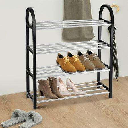 Yosoo Support à chaussures en plastique + métal en aluminium debout bricolage étagère de rangement pour la maison organisateur, étagère de rangement pour chaussures, étagère à chaussures en - image 5 de 6