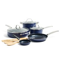 Deals on Blue Diamond Blue Nonstick Ceramic 11-Piece Cookware Set