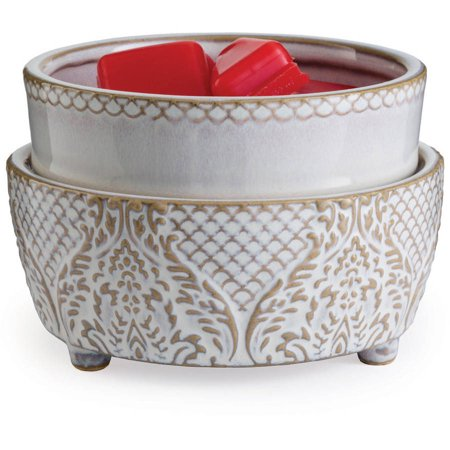 French White Wax (Vintage White 2-In-1 Candle and Fragrance Warmer For Candles And Wax Melts from Candle Warmers Etc.)