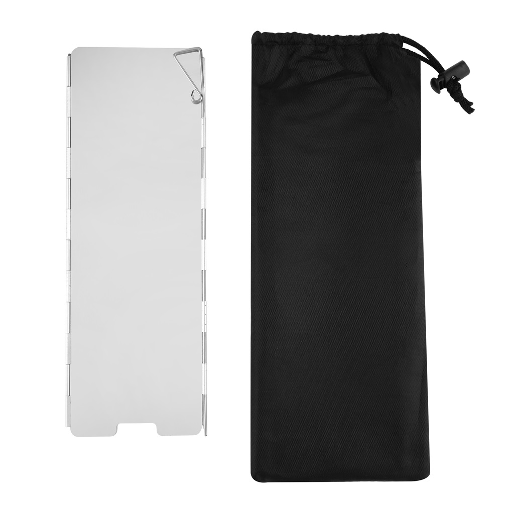 New Enlarged Portable Foldable Aluminium OUTAD Windscreen For Camp Stove