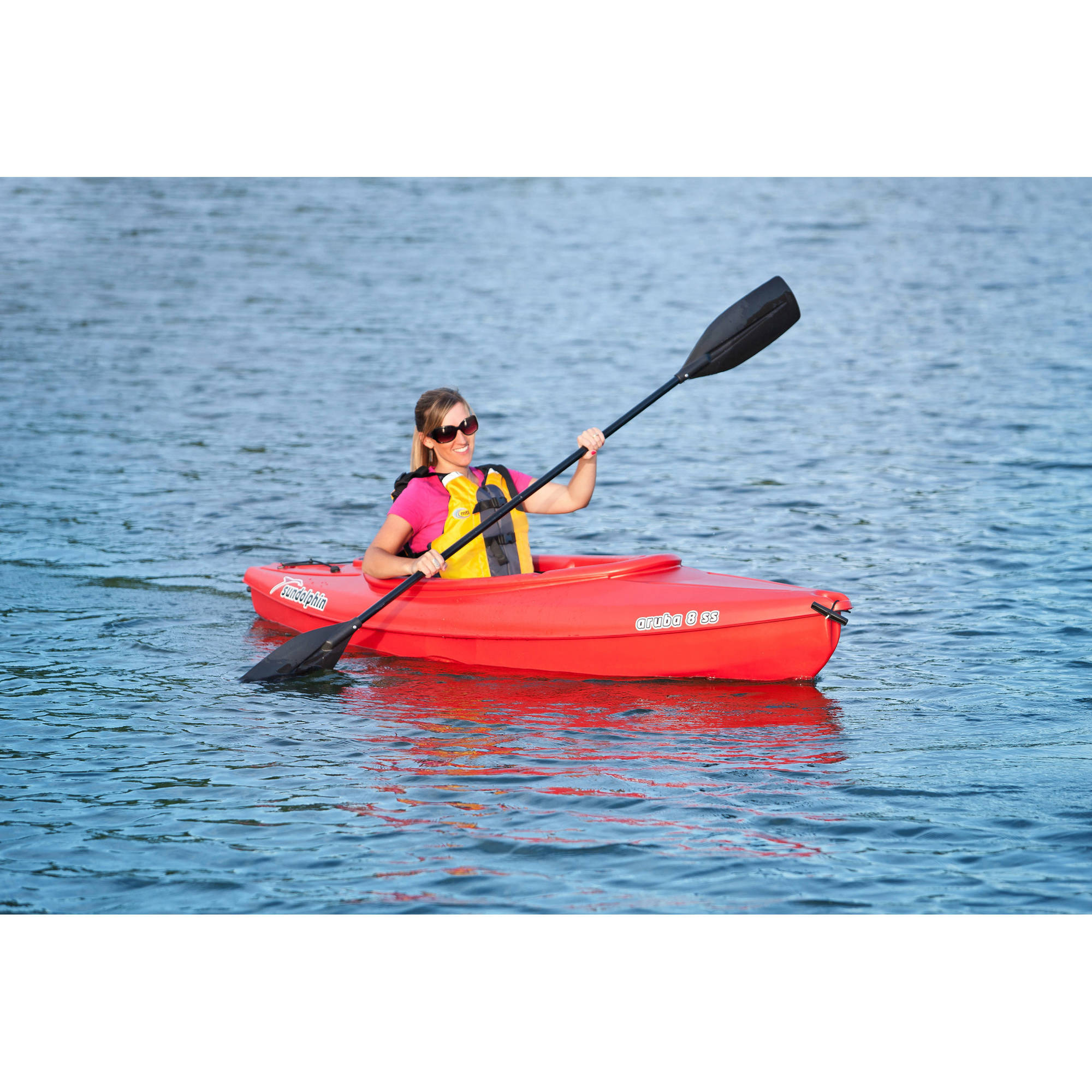Sun dolphin aruba 8 foot ss sit in kayak 019862516758 ebay for Fishing kayak walmart