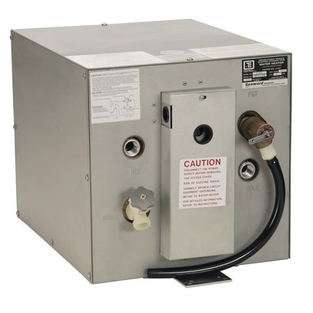 Whale Marine S650 Whale Seaward 6 Gallon Hot Water Heater W/rear Heat Exchanger - Galvanized Steel - 240v - 1500w