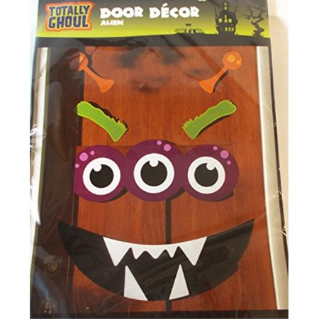 shopko halloween door decoration alien eyes mouth eyebrow antennae