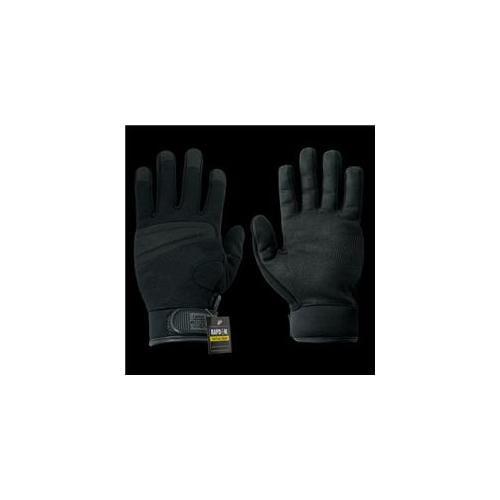 RapDom T04-PL-BLK-02 Digital Leather Glove, Black, Medium