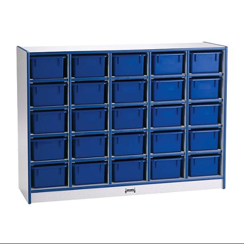 Rainbow Accents Storage w 30 Mobile Cubbies (w/o Trays & w/ Blue Edge Band)