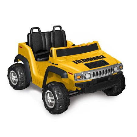 Kid Motorz Two Seater Hummer H2 Boys 12 Volt Battery Powered Ride On  Yellow
