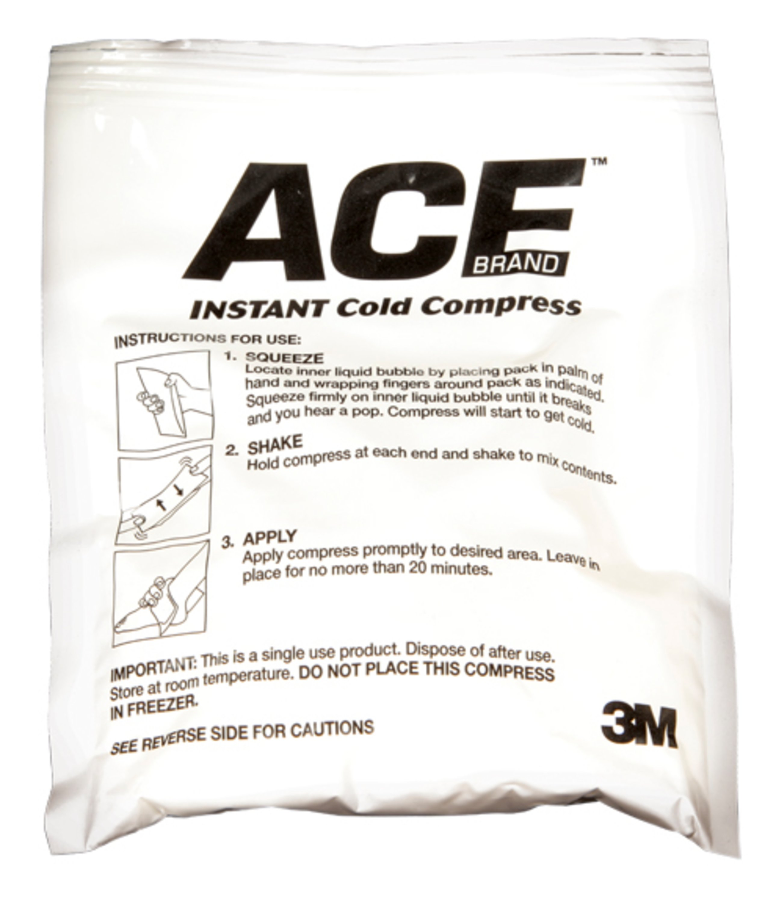 ACE Instant Cold Pack, Single-Use, White, 1/pack