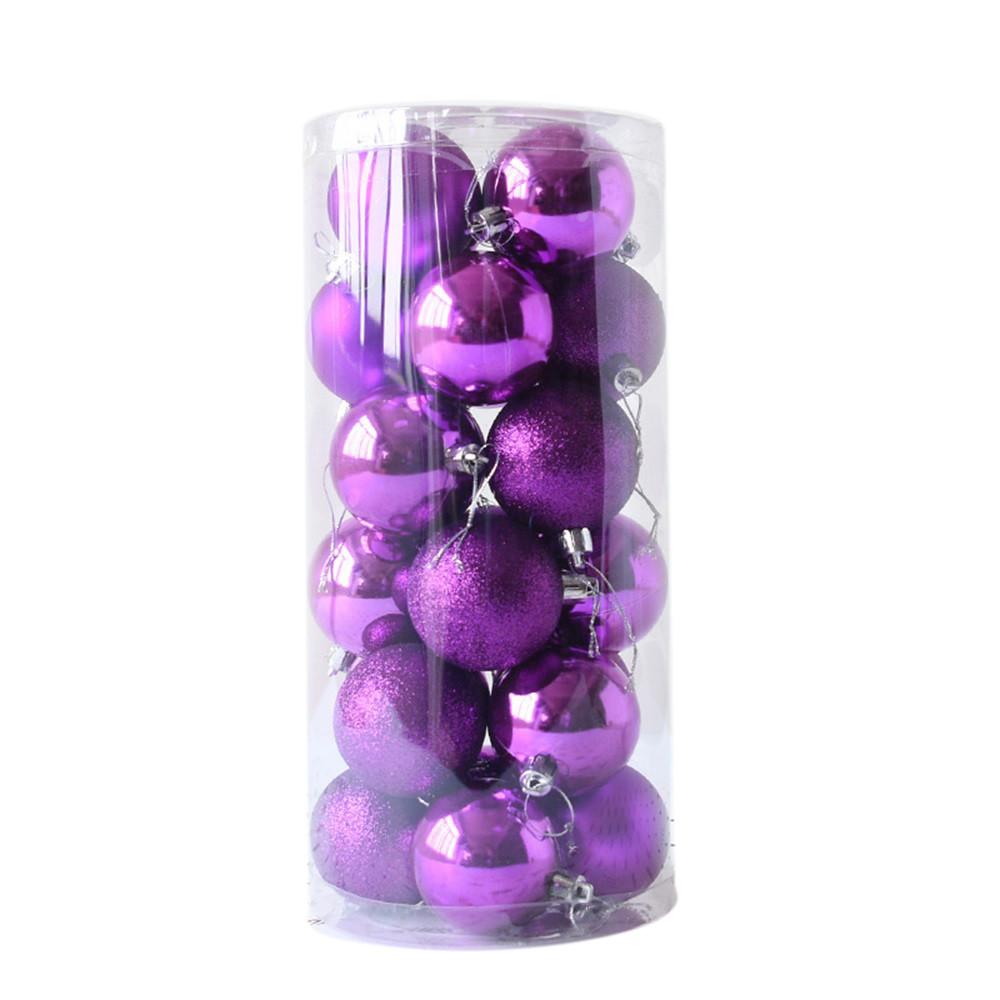 24pcs Shiny and Polshed Glossy Christmas Tree Ball Ornaments Decorations 2.4''