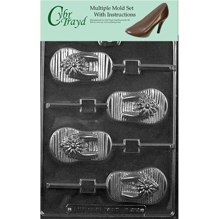 a8d95cbca1598a Flip-Flop Lolly Chocolate Candy Mold with Exclusive Cybrtrayd Copyrighted  Molding Instructions