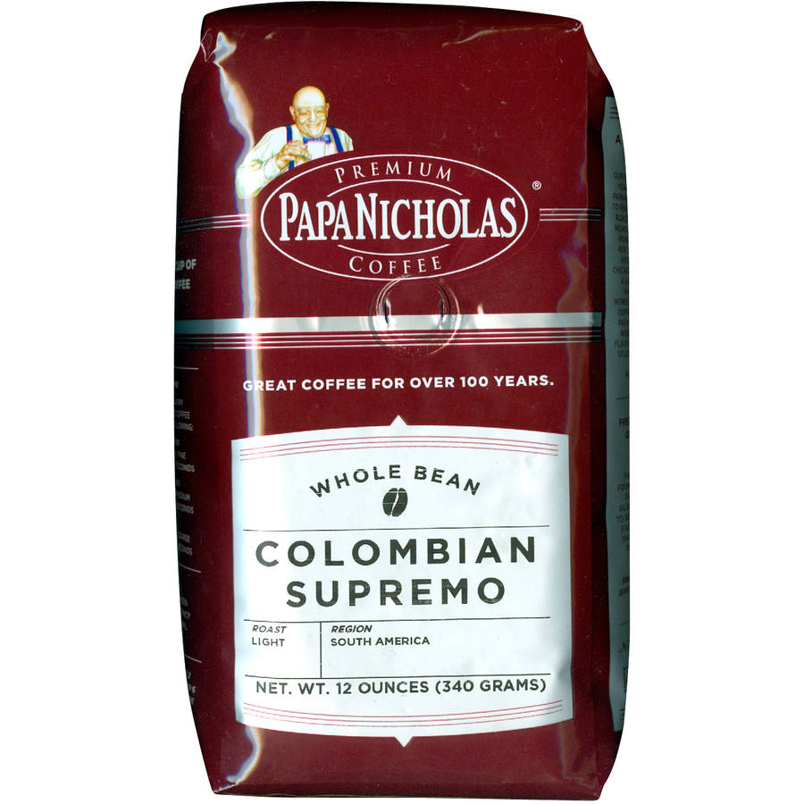 PapaNicholas Colombian Supremo Whole Bean Coffee, 12 oz