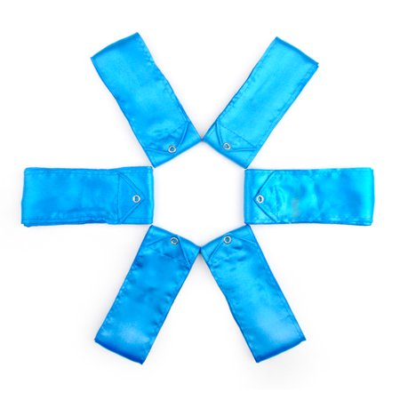 GOGO 6 PCS Rhythmic Gymnastics Ribbons, 4M Dance Streamer Ribbon for Twirling-Bright Blue](Praise Dance Streamers)