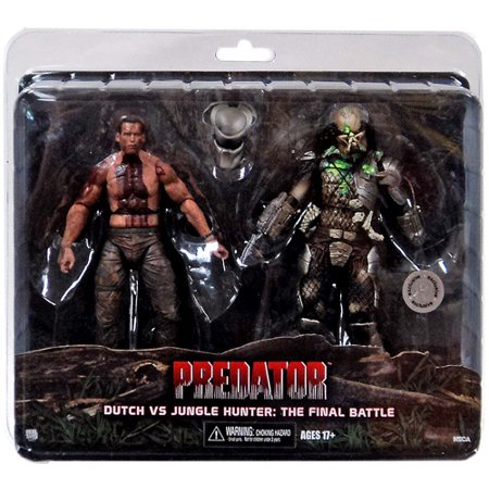 NECA Predator Dutch vs Jungle Hunter Action Figure [The Final (Goku Vs Majin Buu Final Battle Full Fight)