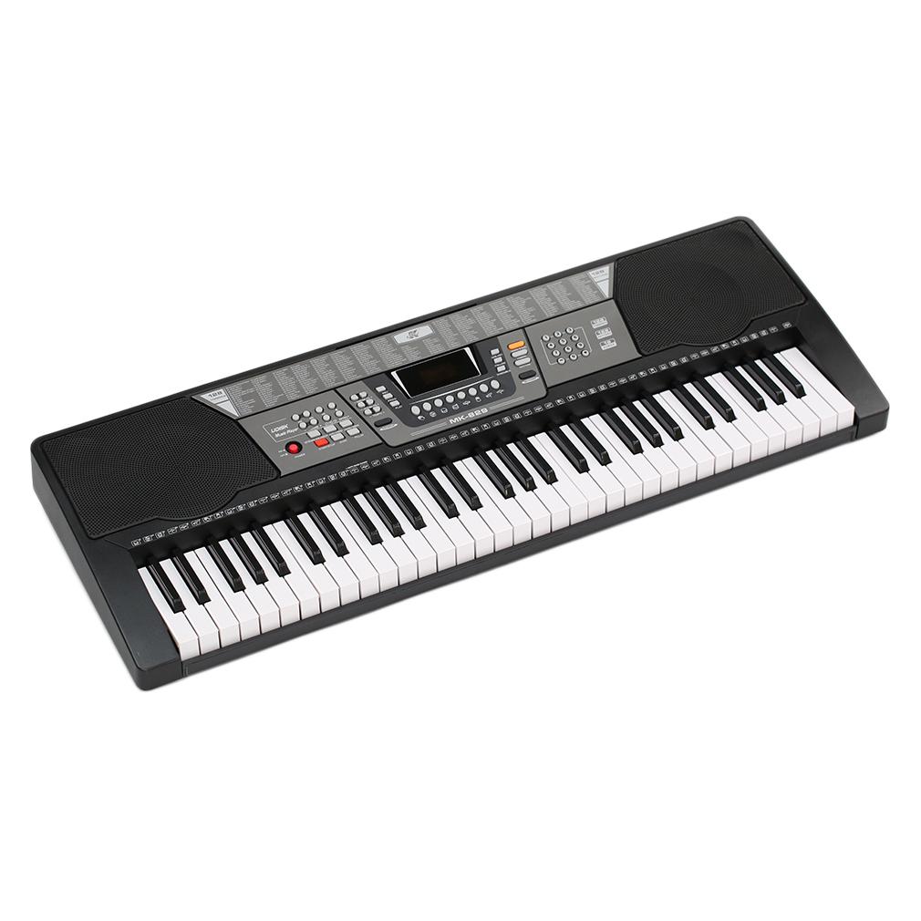 61 Keys Electronic Piano Electric Organ Keyboard Black US Plug 8 Percussions by
