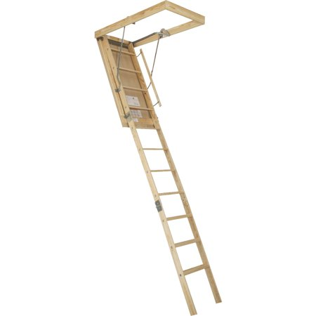 Wood Attic Ladder - Louisville Ladder Windsor With Fire Guard Wood Attic Stairs
