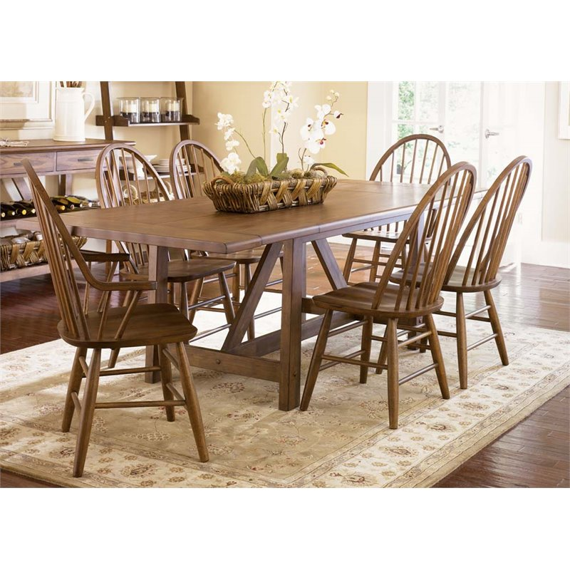 Liberty Furniture Industries Farmhouse Trestle Extension Dining Table