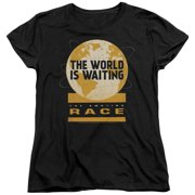 The Amazing Race Waiting World Womens Short Sleeve Shirt