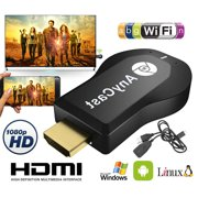 TSV M2 Plus Wireless WiFi Display Dongle Anycast 1080P HD Wireless HDMI Adapter Miracast TV for TV Stick - Compatible with IPhone IPad HD TV Projector and Monitor, Free USB Cable & English User Manual