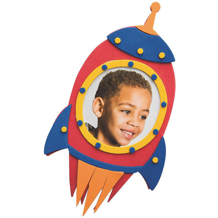 Blast Off Rocket Frame Craft Kit, Pack of 48 by S&S Worldwide