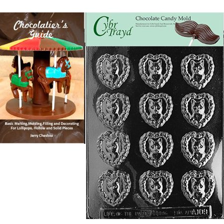 Cybrtrayd Love My Cat Chocolate Candy Mold with Our Chocolatier's Guide Instructions Manual](My Candy Love Halloween 2017 Cat)