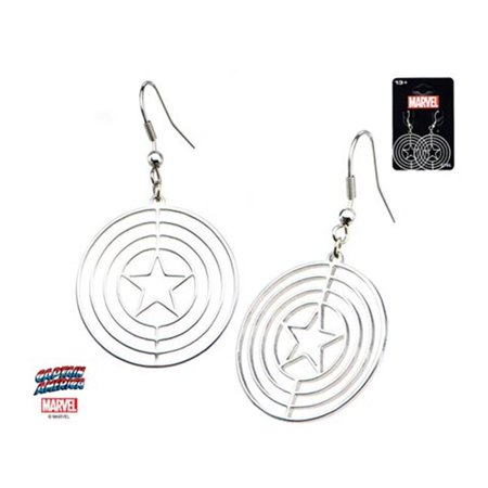 Avengers Captain America Cut Out Shield Logo Dangle Stainless Steel - Avengers Cut Out