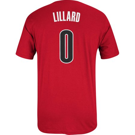Damian Lillard Portland Trail Blazers Adidas Name And Number T-Shirt (Red) by