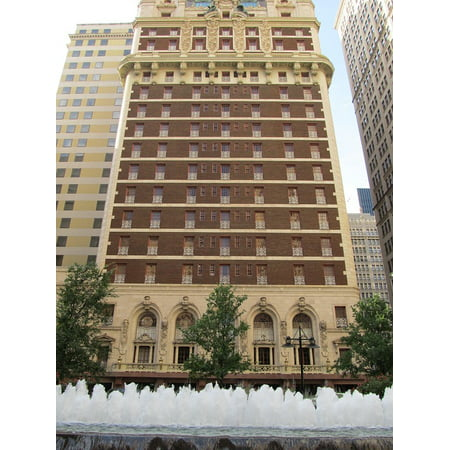 LAMINATED POSTER Adolphus Hotel Dallas Urban Skyline Texas Downtown Poster Print 24 x - Dallas Park Hotel
