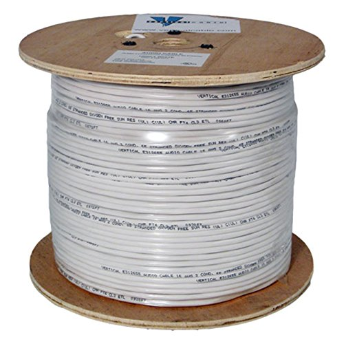 Audio Cable 16 Gauge 2 Conductor 65 Strand 1000 Feet PVC ...