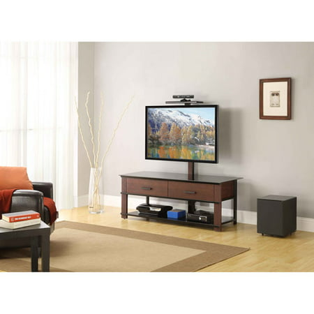 Whalen 60 3 N 1 Console Gaming Theater Tv Console Brown Cherry