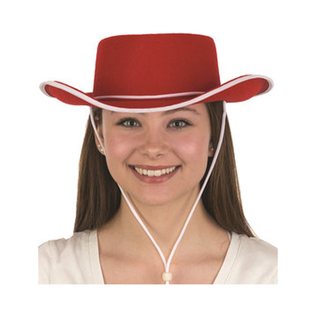 Adult Red Cowboy Hat Jessie Toy Story 2 3 Women's Cowgirl Costume Movie Cosplay