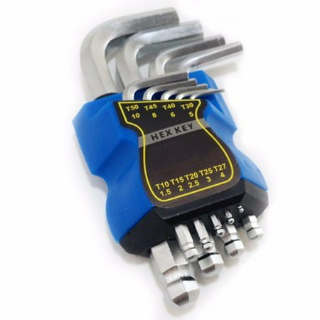 Wideskall® 9 Pcs Metric Allen Ball Point End Hex Key Wrench Set ()