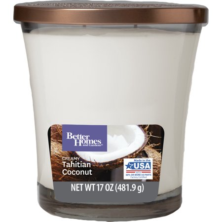 Better Homes & Gardens Creamy Thaitian Coconut Candle, 17oz